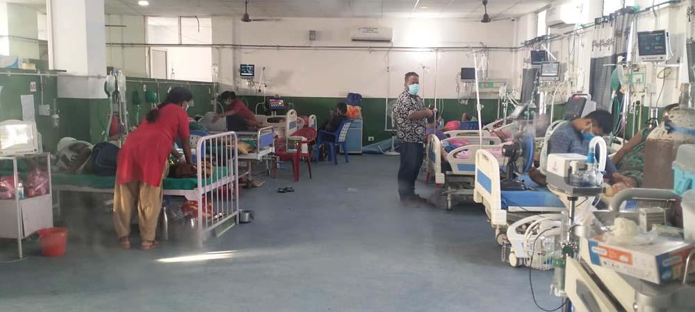 संक्रमण घट्यो, अस्पतालका बेड खाली भए